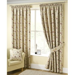 Flower Meadow Pencil Pleat Curtains