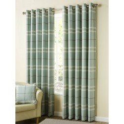 Newbury Check Eyelet Curtain