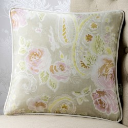 Antiqued Floral 18x18 Cushion Cover
