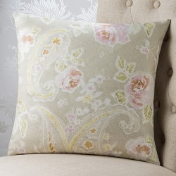Antiqued Floral (No Piping) 18x18 Cushion Cover