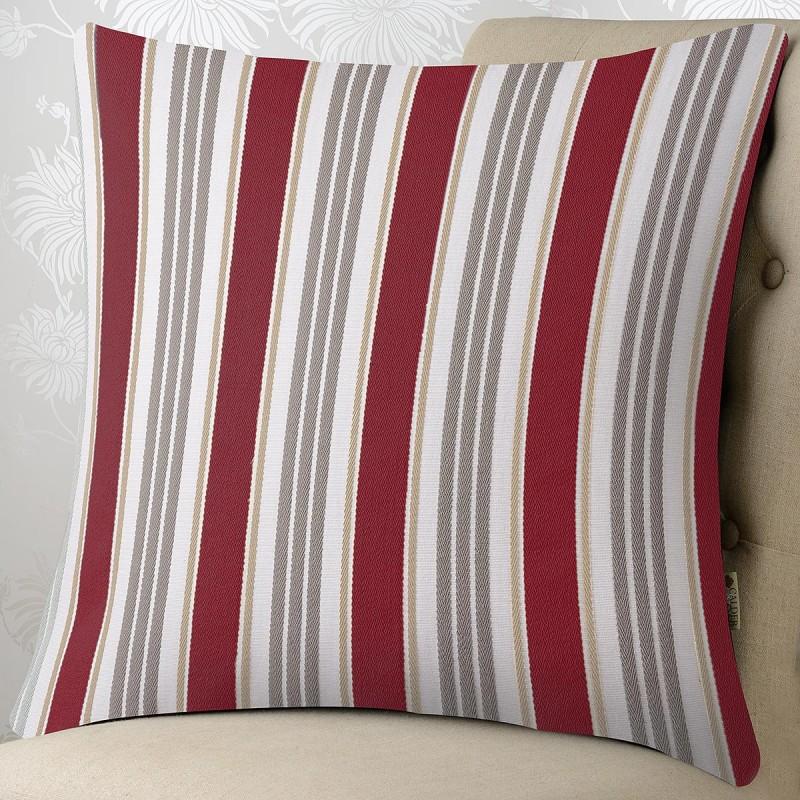 Stripe 24x24 Cushion Cover #1: Ascot Stripe Rouge 24x24 cushion 800x800