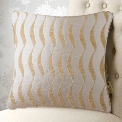 Geo Wave Cream 20x20 Cushion Cover