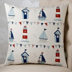 Lighthouses Blue 18x18 Cushion Cover
