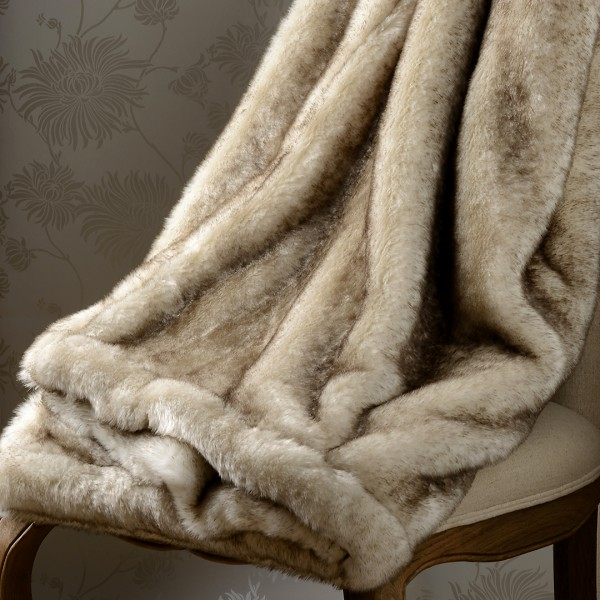 Piedmont Faux Fur Throw 150x 220cm