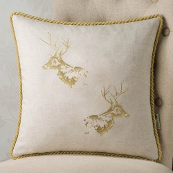Stag Embroidert 18x18 Cushion Cover