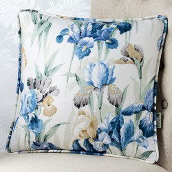 French Iris (Piped) 18x18 Cushion Cover
