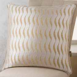 Geo Wave Cream 24x24 Cushion Cover