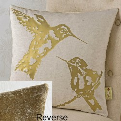 Hummingbirds Foil 18x18 Cushion Cover