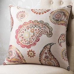Jewelled Paisley 18x18 Cushion Cover