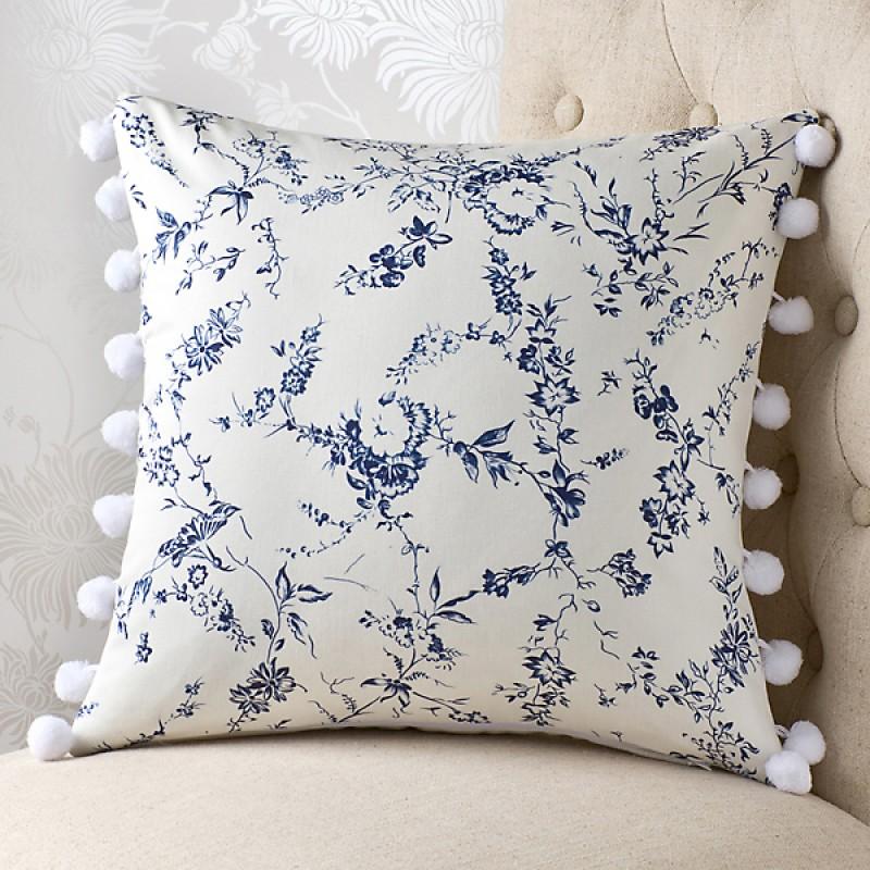 pompidou blue 18x18 cushion cover. Black Bedroom Furniture Sets. Home Design Ideas