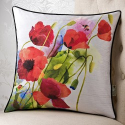 Poppy Meadows 18 x 18 Cushion Cover