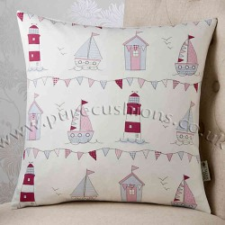 Lighthouses Pink 18x18 Cushion Cover