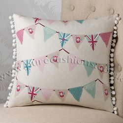 Summer Fete Blue 16 x16 Cushion	 Cover