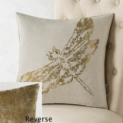Dragonfly Foil 18x18 Cushion Cover