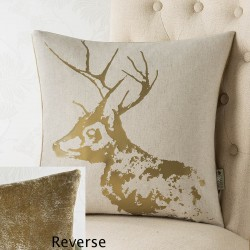 Stag Foil 18x18 Cushion Cover