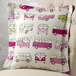 Campervan Pink 20x20 Cushion Cover