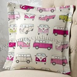 Vintage Volkswagen Pink 20 x 20 Cushion