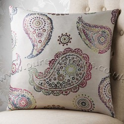 Jewelled Paisley 20x20 Cushion Cover