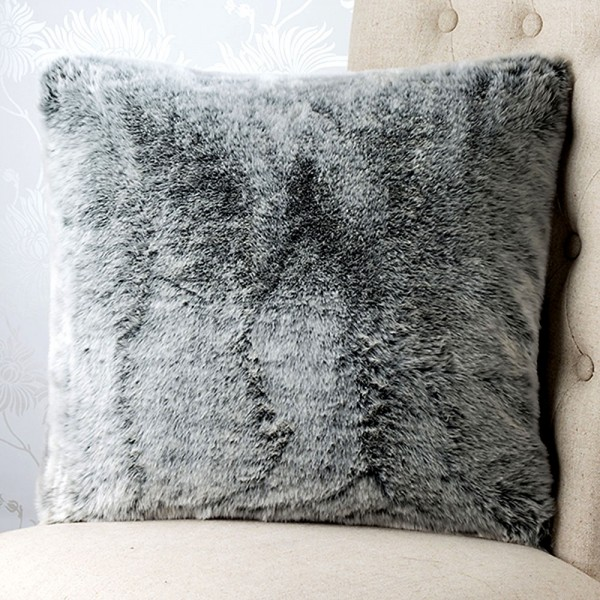 St Moritz Faux 18x18 Fur Cushion Cover