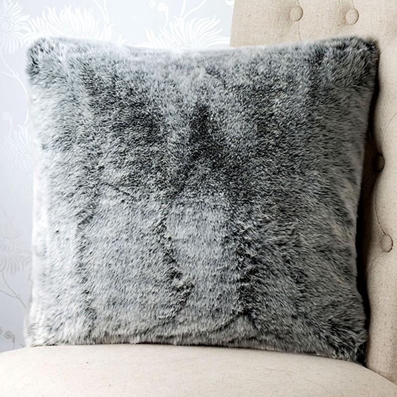 st moritz faux 18x18 fur cushion cover. Black Bedroom Furniture Sets. Home Design Ideas