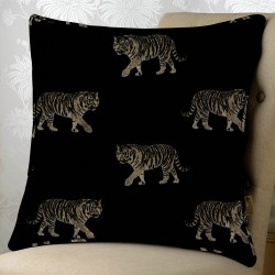 Tigers Noir 24x24 Cushion Cover