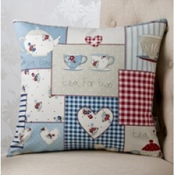 Afternoon Tea Blue 18 x18Cushion	 Cover