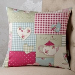 Afternoon Tea Pink 18 x18Cushion Cover