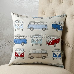 Vintage Volkswagen Blue 16 x 16 Cushion