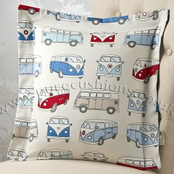 Vintage Volkswagen Blue 20 x 20 Cushion