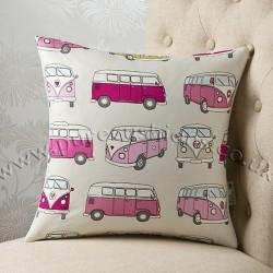 Vintage Volkswagen Pink 16 x 16 Cushion