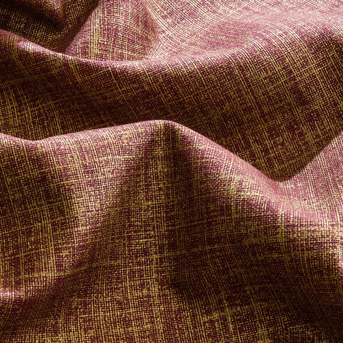 Luxury Maroon Cavendish Heavyweight Leaf Chenille Luxury Velvet Curtain Fabric